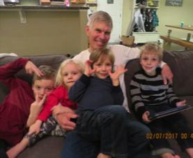 Poppie with Caleb, David, & Josiah