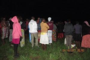 Sunrise service on Mbingo Hill